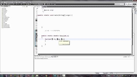java eclipse fakultaet berechnen java tutorial youtube