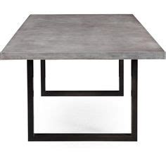 savona large dining table  grey  stainless steel