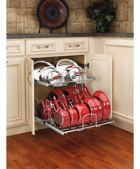 rev a shelf two tier cookware organizer organize your kitchen with the rev a shelf 5cw2 cookware