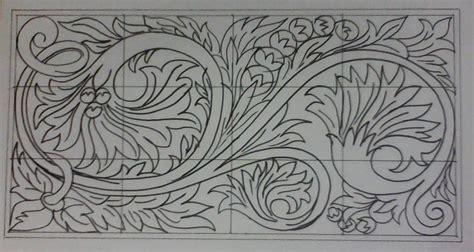 gambar menggambar sketsa ukir motif jepara shona design