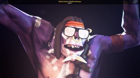 witch doctor skrillex glasses dota  skins characters