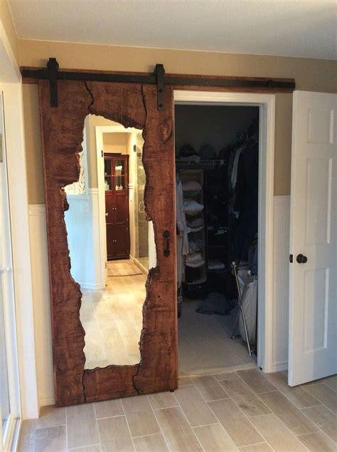 edge wood mirror barn door interior barn doors