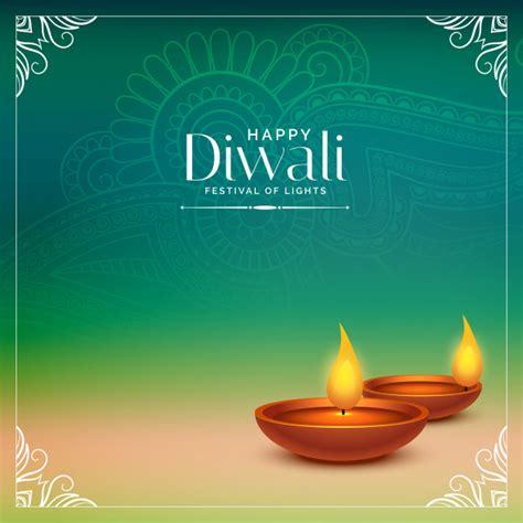 happy diwali beautiful background  realistic diya