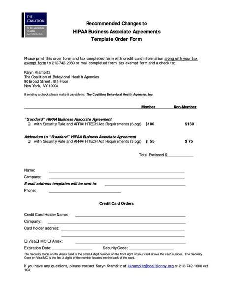 hipaa business associate agreement template