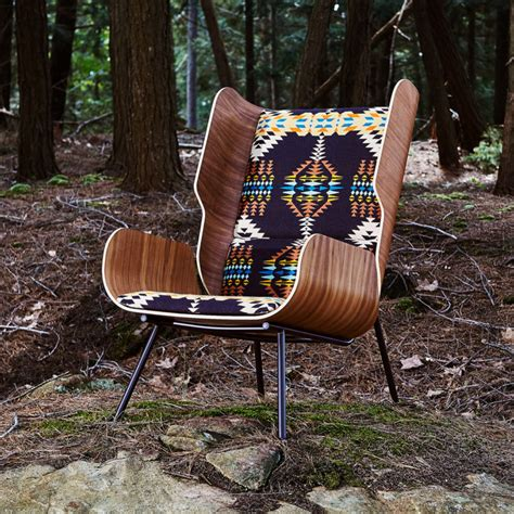 gus modern x pendleton woolen mills collaborate on chairs