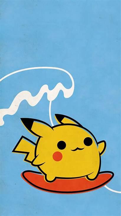Pikachu Iphone Pokemon Backgrounds Pokeball Wallpapers Surfing