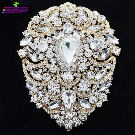 Large Brooch Pins Bridal Wedding Jewelry 4 9 inches