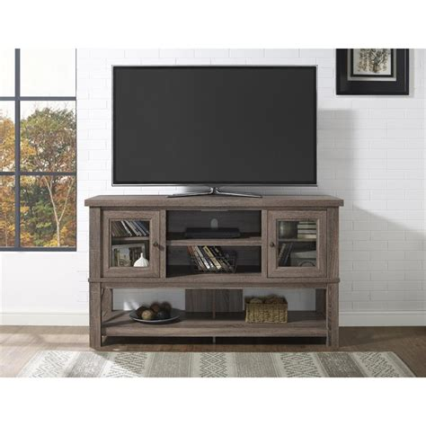 tv stand glass doors 70 tv stand with glass doors in sonoma oak 1785096com