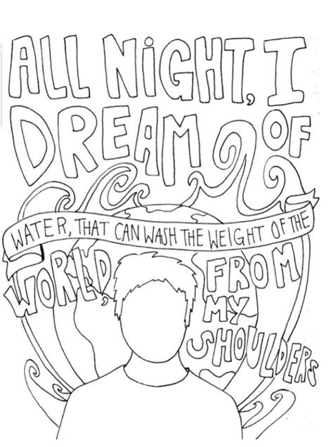 Coloring Lyrics by Of Mice Of Mice Panic At The