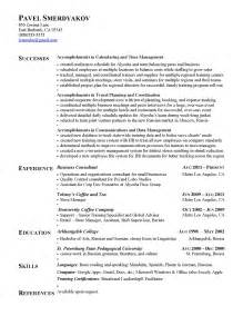 Type List Of Accomplishments For Resume by Exles Agoodresume