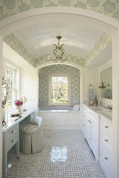 papier peint pour salle de bain  idees magnifiques