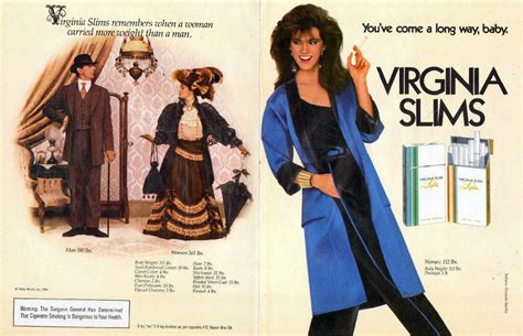 introducing television lift you 39 ve come a way baby virginia slims advertising