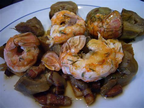 cuisiner artichaut poivrade langoustines rôties aux artichauts poivrade recette