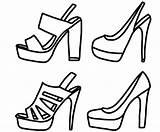 Coloring Heel Shoes Printable Heels Colouring Models Shoe Drawing Popular Ecolorings Pattern Visit Getcolorings sketch template