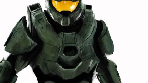 Halo 4 Dibujo Hecho Por Photoshop Del Jefe Maestro Youtube