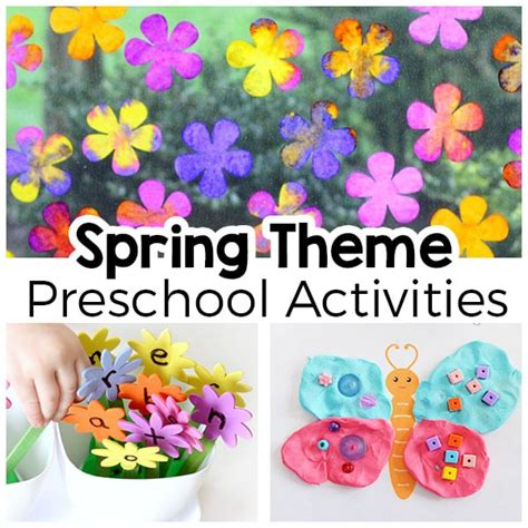 theme activities for preschool 972 | Spring Theme Activities for Preschool FB