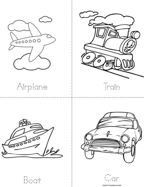 How To Draw A Mini Boat by Transportation Book Twisty Noodle