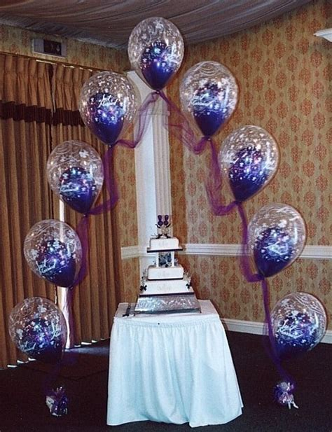 Wedding Balloon Table Decorations by Wedding Cake Table Decoration Ideas With Balloons