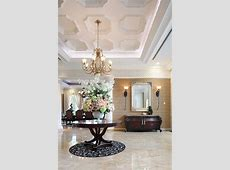 flat coffered ceiling entry victorian with wall sconce