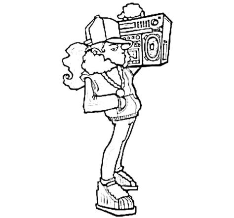 hip hop coloring book hiphop free coloring pages