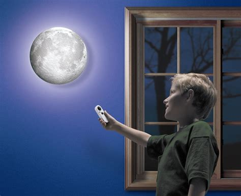 up moon realistic moon wall light home designing Light