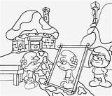 Coloring Smurf Drawing Smurfs Printable Teenagers Backyard Vanity Books Picnic Papa Simple Character Baker His Bonnet Decoration Flower Lets Cake sketch template