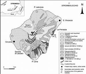 Simplified Geological Map Of The Stromboli Volcano