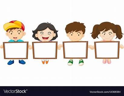 Board Clipart Holding Vectorstock Cliparts Frames Classroom