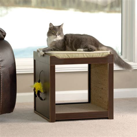 sauder modern interactive pet cube pets cat cube cats
