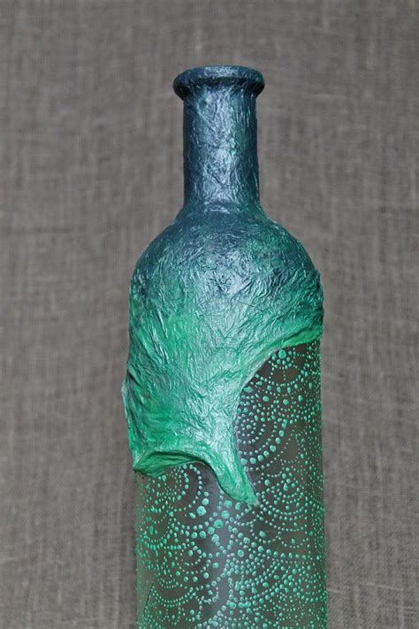 Decorative Wine Bottles For by 15 Sale Painted Decoupage Decorative Wine By