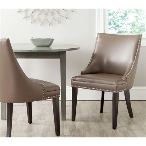 safavieh afton clay bicast leather side chair set of 2