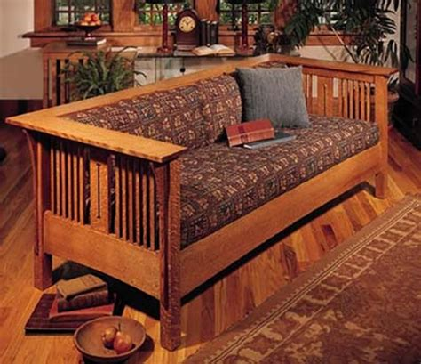 arts  crafts mission sofa  chair woodworking plan