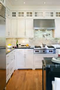 kitchen backsplashes for white cabinets iridescent backsplash transitional kitchen benjamin navajo white lda architects