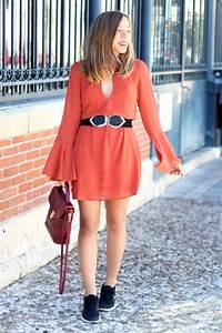 robe rouille de l39automne blog mode la penderie de chloe With robe rouille