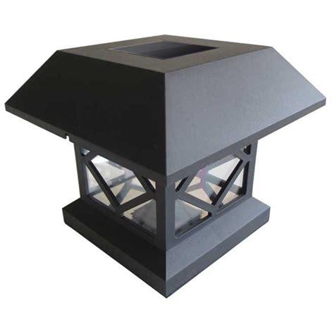 ens de 4 luminaires solaires pour poteaux rona