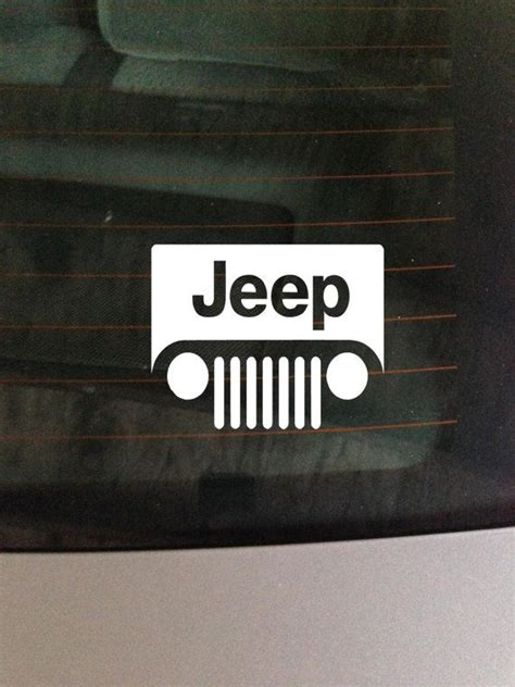 jeep vinyl decals jeep vinyl window decal sticker by greenmountainvinyl on