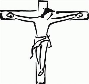 Jesus On The Cross In Black And White - ClipArt Best