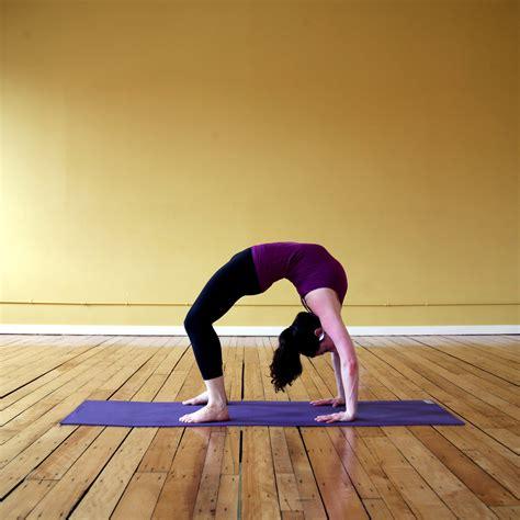 tips  backbend wheel pose popsugar fitness