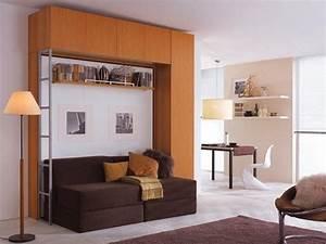 Lit Escamotable Armoire : armoire lit escamotable 2 pers canape modulable rangement ~ Premium-room.com Idées de Décoration