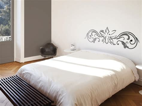 pochoir mural chambre idees deco chambre tete de lit pochoir déco scandinave