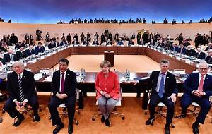 Scenes from the G20 summit in Germany
