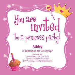 Princess Magic Free Birthday Invitation Template