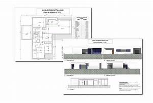 Maison Architecte Plan : maison contemporaine bbc plain pied type 4d 39 architecte 172 villa contemporaine ~ Dode.kayakingforconservation.com Idées de Décoration