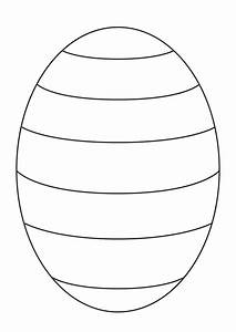 Blank Easter egg template to create your own patterns for ...