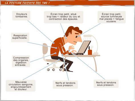position bureau position au poste de travail travail tms postures
