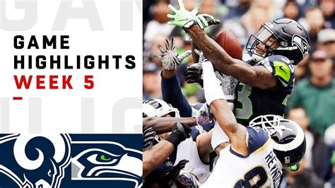 rams  seahawks week  highlights nfl  youtube