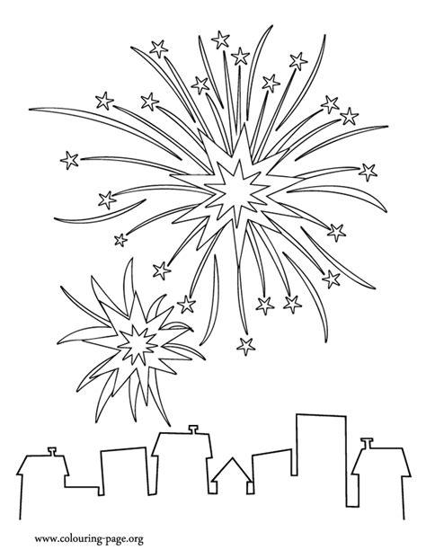 years fireworks coloring page  images