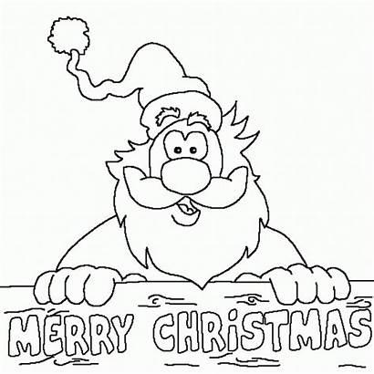Coloring Merry Christmas Pages Printable Santa Noel