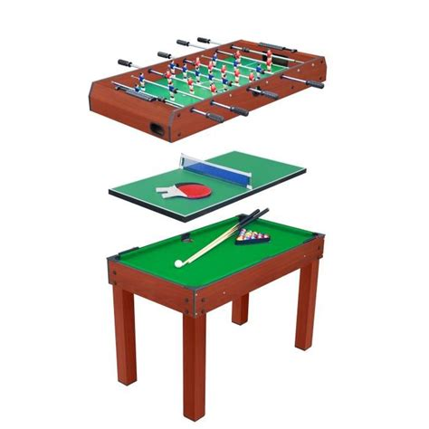 Table Multi Jeux 3 En 1 (billard, Baby Foot Et Ping Pong