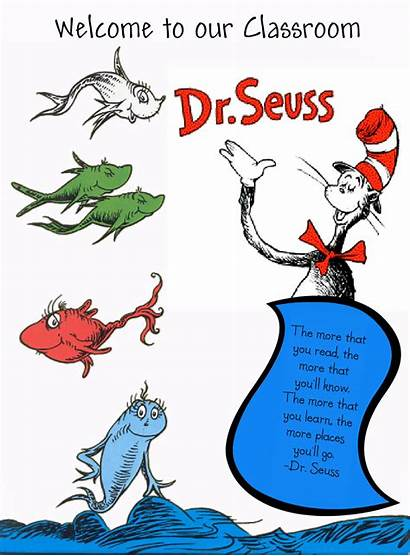 Seuss Fish Dr Clipart Clip Coloring Pages